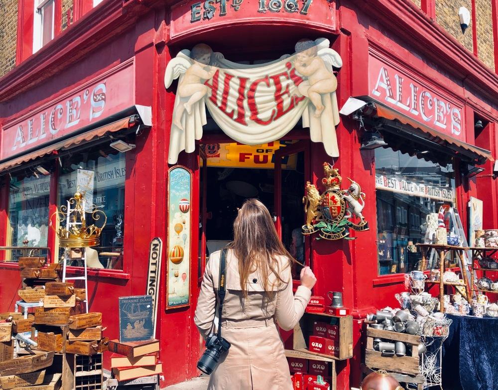 Negozio colorato a Notting Hill